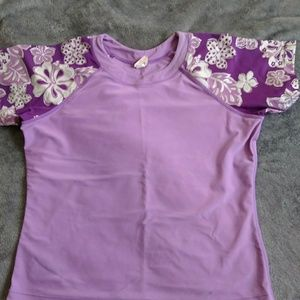 Purple and floral Rashguard